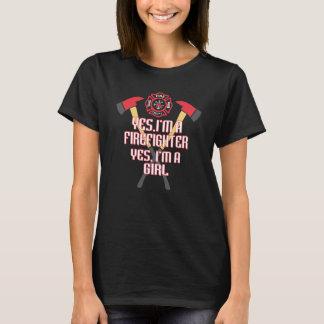 Camiseta Eu sou um sapador-bombeiro e uma menina