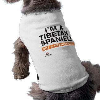 Camiseta Eu sou um Spaniel tibetano! t-shirt do cachorrinho