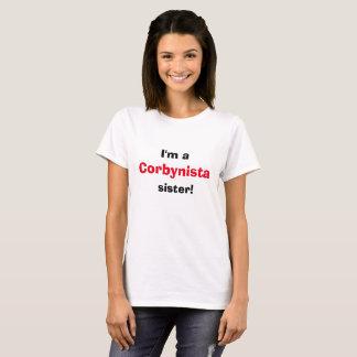 Camiseta Eu sou um t-shirt da irmã de Corbynista