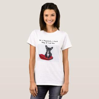 Camiseta Eu sou um t-shirt das senhoras do Cão-aholic