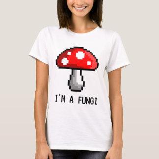 Camiseta Eu sou um t-shirt do cogumelo do pixel dos fungos