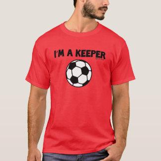 Camiseta Eu sou UM T-SHIRT do FUTEBOL do DEPOSITÁRIO