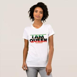 Camiseta Eu sou um t-shirt dos direitos do preto da RAINHA