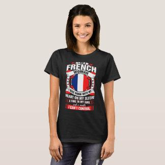 Camiseta Eu sou um Tshirt francês da mulher