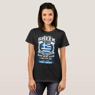 Camiseta Eu sou um Tshirt grego da mulher