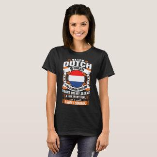 Camiseta Eu sou um Tshirt holandês da mulher