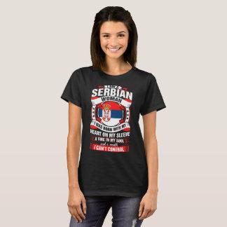 Camiseta Eu sou um Tshirt sérvio da mulher