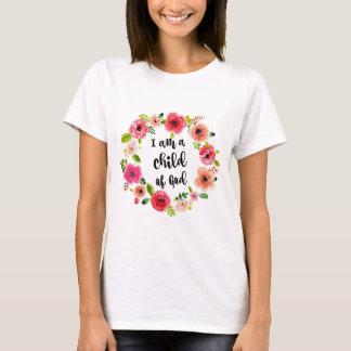 Camiseta Eu sou uma criança do artigo floral do deus