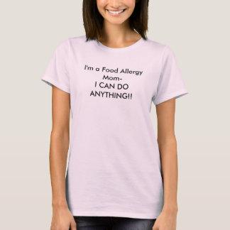 Camiseta Eu sou uma Mamã-Eu da alergia de comida POSSO