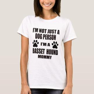 Camiseta Eu sou uma mamãe de Basset Hound