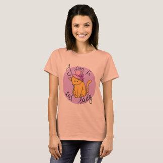 Camiseta Eu sou uma senhora T-shirt do gato