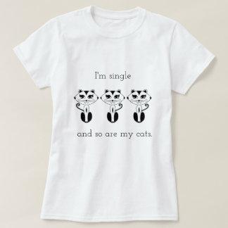 Camiseta Eu sou único & assim que sou meu T dos gatos