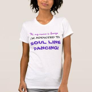 Camiseta Eu sou viciado! Linha t-shirt da alma da dança