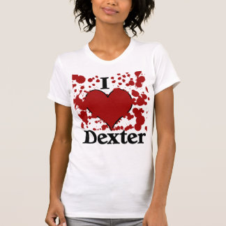 Camiseta Eu Splatter o t-shirt de Dexter do coração