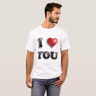 Camiseta EU TE AMO anti feliz positivo de Microagression