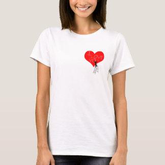 Camiseta Eu te amo elegante legal engraçado do coração