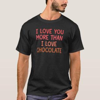 Camiseta Eu te amo mais do que o chocolate do amor de I