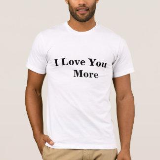 """Camiseta """"Eu te amo o t-shirt de mais"""" homens, branco"""