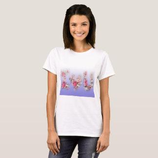 Camiseta Eu te amo t-shirt dos rosas
