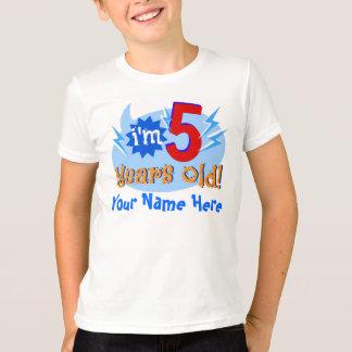 Camiseta Eu tenho 5 anos velho! (Personalize com nome da