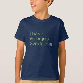 Camiseta Eu tenho aspergers - o t-shirt do miúdo
