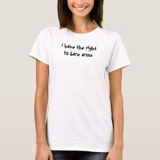 Camiseta eu tenho o direito de descobrir os braços