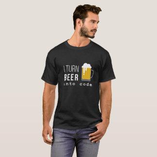 Camiseta Eu transformo a cerveja no t-shirt do código