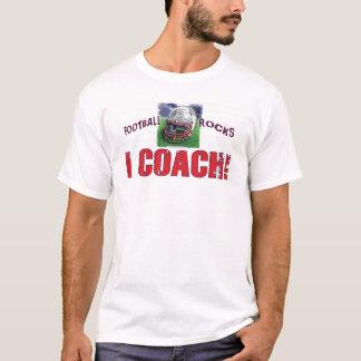 Camiseta Eu treino! T-shirt do futebol do capacete