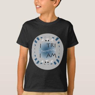 Camiseta Eu tri conseqüentemente mim sou Triathlon