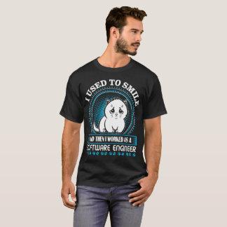 Camiseta Eu usei-me para sorrir trabalhado então como a