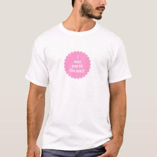 Camiseta Eu vali a espera (o rosa)