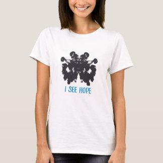 Camiseta Eu ver o t-shirt das mulheres da esperança