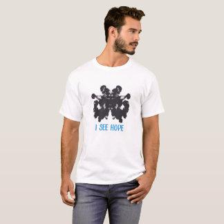 Camiseta Eu ver o t-shirt dos homens básicos da esperança