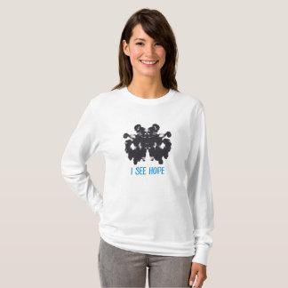 Camiseta Eu ver o t-shirt Longo-Sleeved esperança