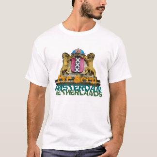 Camiseta Eu vi o t-shirt do texto da brasão de Amsterdão