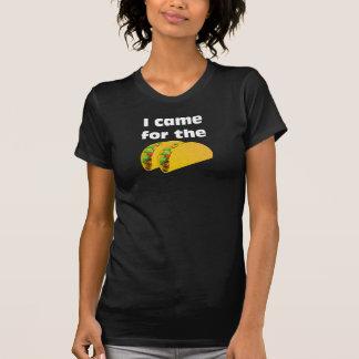 Camiseta Eu vim para o T do Tacos (o CrewNeck das mulheres)