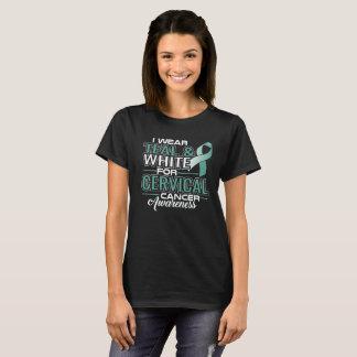 Camiseta Eu visto a cerceta & o branco para a consciência