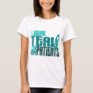 Camiseta Eu visto a cerceta para meu câncer de ovário dos