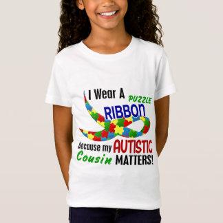 Camiseta Eu visto a fita do quebra-cabeça para meu AUTISMO