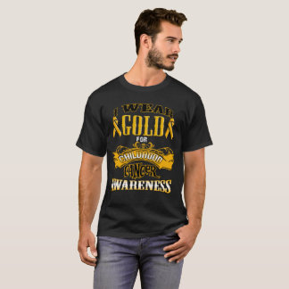 Camiseta Eu visto o ouro para a consciência do cancer da