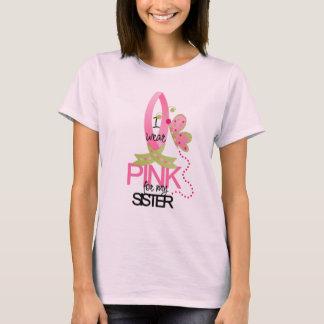 Camiseta Eu visto o rosa para meu t-shirt da irmã