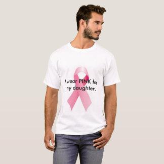 Camiseta Eu visto o ROSA para minha filha