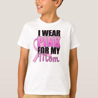 Camiseta Eu visto o rosa para minha mamã
