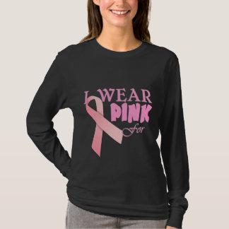Camiseta Eu visto o rosa para Tempate conhecido para o