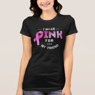Camiseta Eu visto o rosa - t-shirt da consciência do cancro