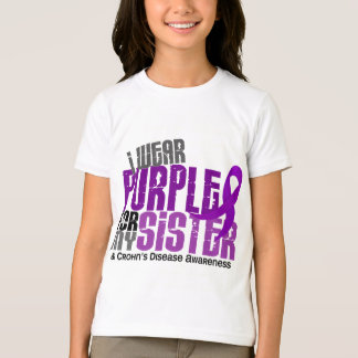 Camiseta Eu visto o roxo para minha doença de Crohn da irmã