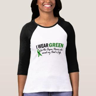 Camiseta Eu visto o verde para o dador de órgãos 1