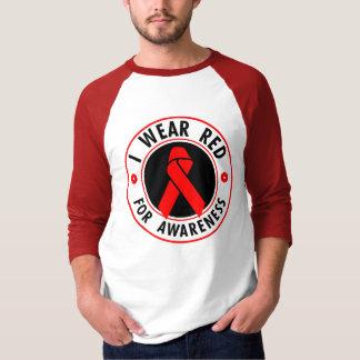 Camiseta EU VISTO O VERMELHO… Para a consciência