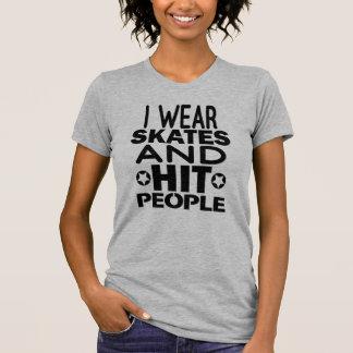 Camiseta Eu visto skates e pessoas da batida, rolo Derby