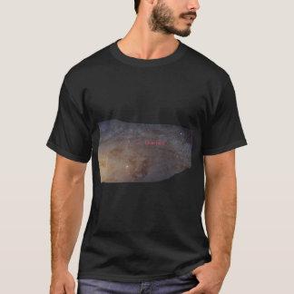 Camiseta Eu vivo aqui, o t-shirt escuro básico dos homens